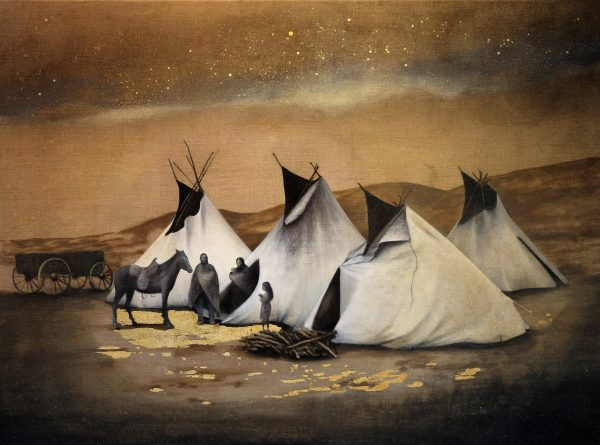 Jag lyssnar-indianer och tält