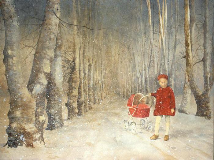 Eva Wilms - bildkonstnär - Barnet 8- tempera och blyerts - 120x90 cm
