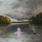 Eva Wilms - bildkonstnär - Barnet 1 - tempera och blyerts - 130x120 cm