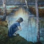 Eva Wilms - Bildkonstnär - Barnet 11 - Tempera och blyerts på duk
