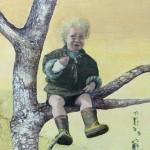 Eva Wilms - bildkonstnär - Barnet 5- tempera och blyerts - 130x100 cm