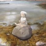 Eva Wilms - bildkonstnär - Barnet 6 - tempera och blyerts - 110x100 cm