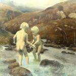 Eva Wilms - bildkonstnär - Barnet 7- tempera och blyerts - 130x120 cm