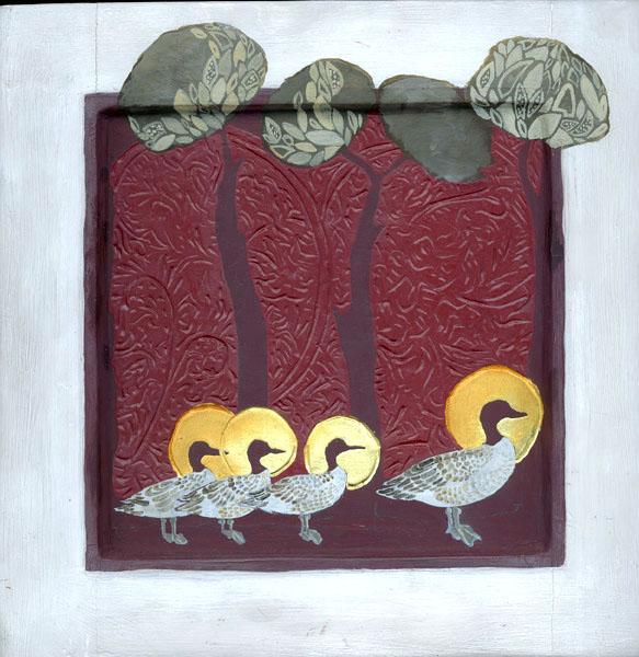 Eva Wilms - Fågelikoner - På rad